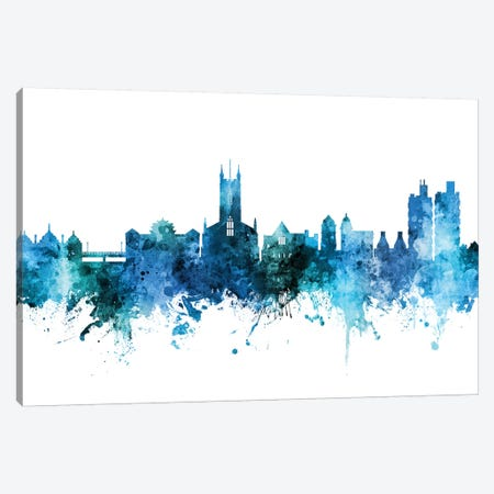 Stoke On Trent, England Skyline Canvas Print #MTO1606} by Michael Tompsett Canvas Print