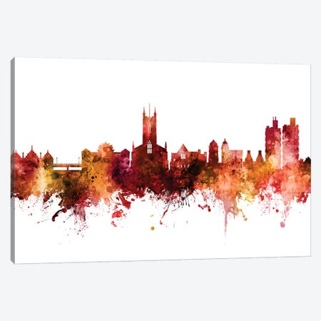 Stoke On Trent, England Skyline Canvas Print #MTO1607} by Michael Tompsett Canvas Art Print