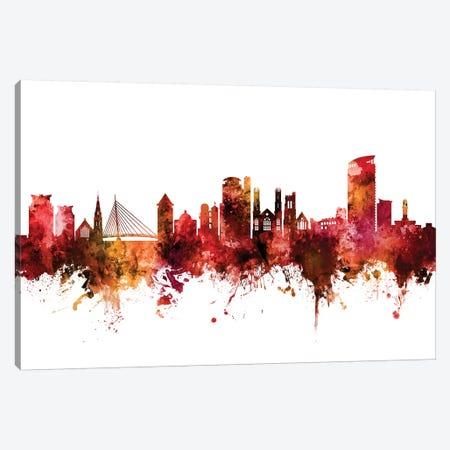 Swansea, Wales Skyline Canvas Print #MTO1613} by Michael Tompsett Art Print
