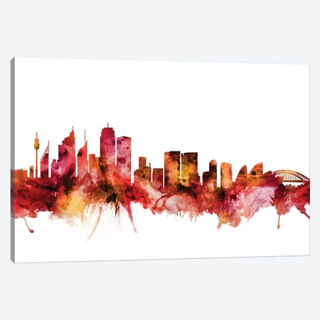 Sydney, Australia Skyline Canvas Print #MTO1614} by Michael Tompsett Canvas Wall Art