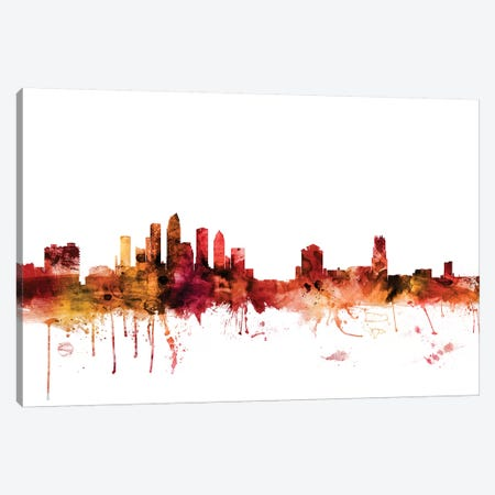 Tampa, Florida Skyline Canvas Print #MTO1618} by Michael Tompsett Canvas Art Print