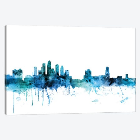 Tampa, Florida Skyline Canvas Print #MTO1619} by Michael Tompsett Art Print