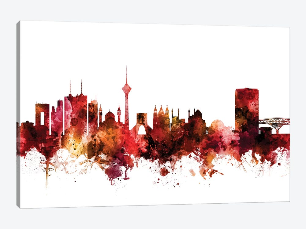 Tehran, Iran Skyline 1-piece Canvas Print