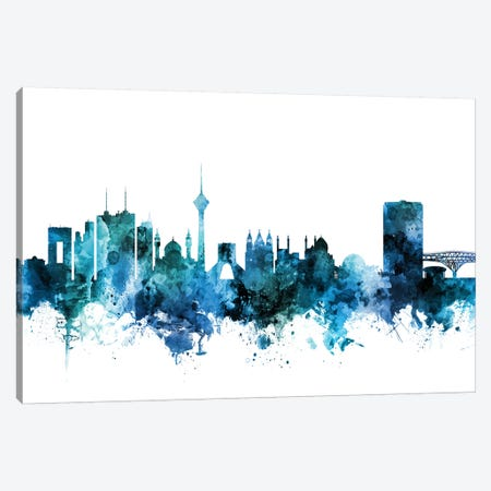 Tehran, Iran Skyline Canvas Print #MTO1621} by Michael Tompsett Canvas Wall Art