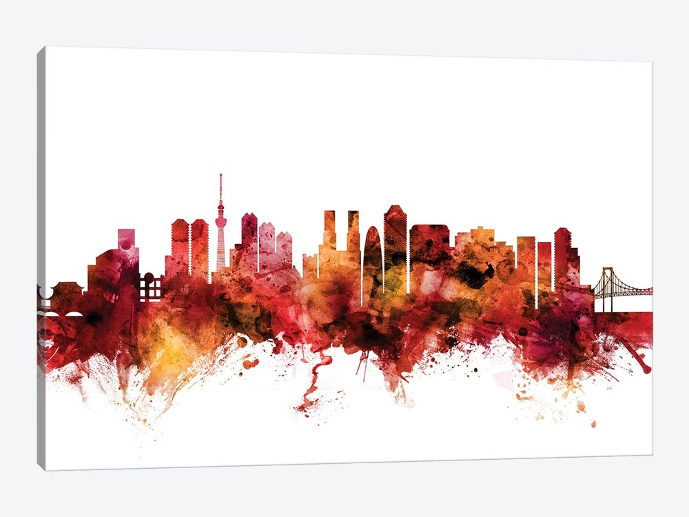 Tokyo, Japan Skyline by Michael Tompsett 1-piece Canvas Art Print