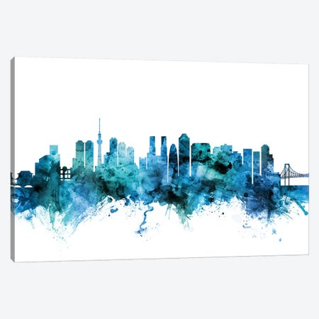 Tokyo, Japan Skyline Canvas Print #MTO1625} by Michael Tompsett Art Print