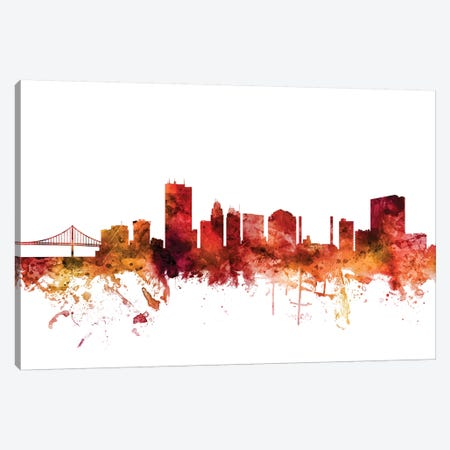 Toledo, Ohio Skyline Canvas Print #MTO1626} by Michael Tompsett Canvas Print
