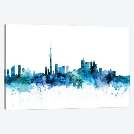 Toronto, Canada Skyline Canvas Print #MTO1629} by Michael Tompsett Canvas Art