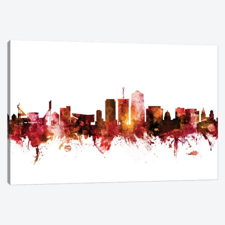 Tucson, Arizona Skyline Canvas Print #MTO1630} by Michael Tompsett Art Print