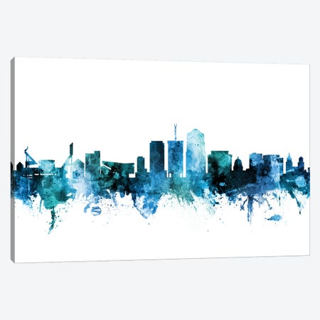 Tucson, Arizona Skyline Canvas Print #MTO1631} by Michael Tompsett Canvas Art Print