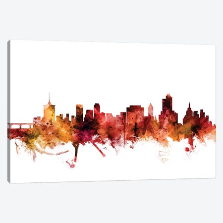 Tulsa, Oklahoma Skyline Canvas Print #MTO1632} by Michael Tompsett Canvas Art Print