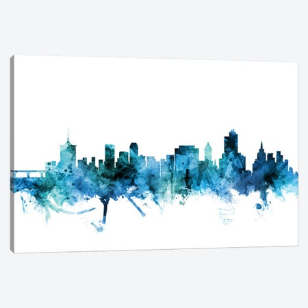 Tulsa, Oklahoma Skyline Canvas Print #MTO1633} by Michael Tompsett Canvas Art Print