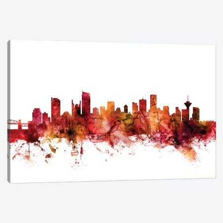 Vancouver, Canada Skyline Canvas Print #MTO1634} by Michael Tompsett Canvas Wall Art