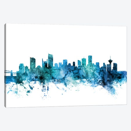 Vancouver, Canada Skyline Canvas Print #MTO1635} by Michael Tompsett Canvas Art