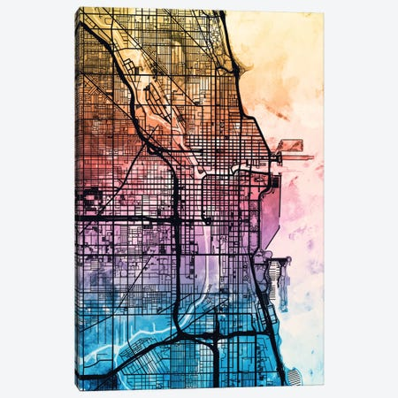 Chicago, Illinois, USA Canvas Print #MTO163} by Michael Tompsett Canvas Art
