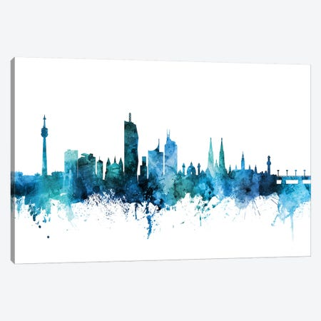 Vienna, Austria Skyline Canvas Print #MTO1640} by Michael Tompsett Canvas Art