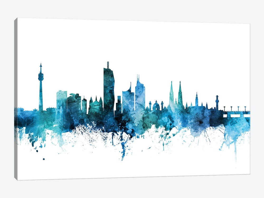 Vienna, Austria Skyline by Michael Tompsett 1-piece Art Print