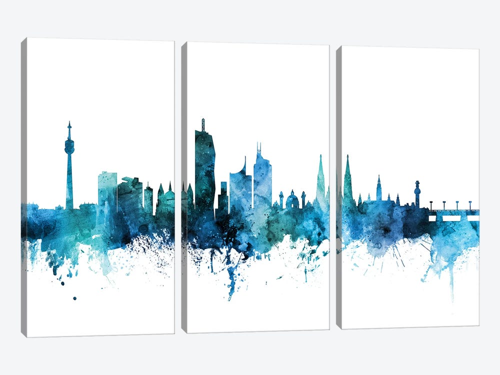 Vienna, Austria Skyline by Michael Tompsett 3-piece Canvas Print