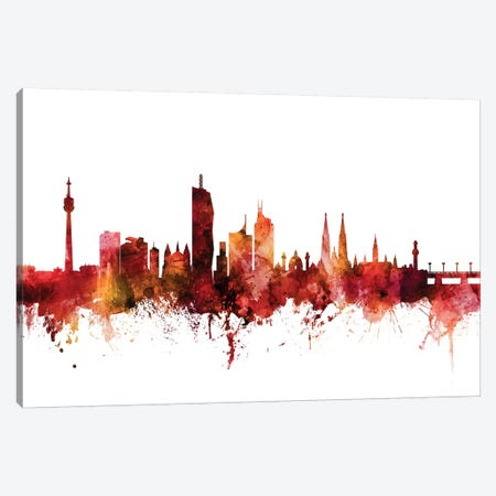 Vienna, Austria Skyline Canvas Print #MTO1641} by Michael Tompsett Canvas Artwork