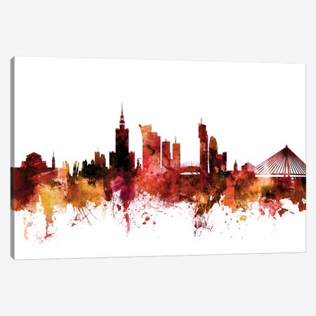 Warsaw, Poland Skyline Canvas Print #MTO1644} by Michael Tompsett Canvas Print