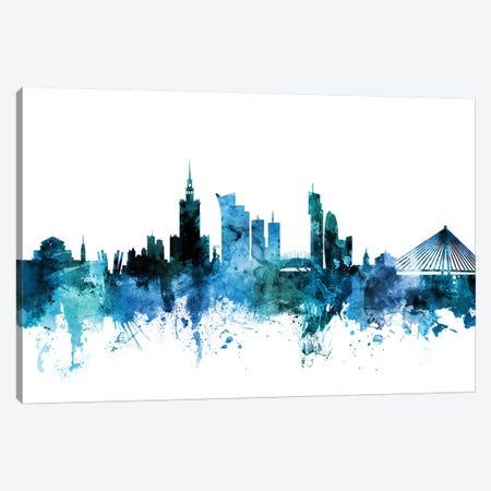 Warsaw, Poland Skyline Canvas Print #MTO1645} by Michael Tompsett Art Print