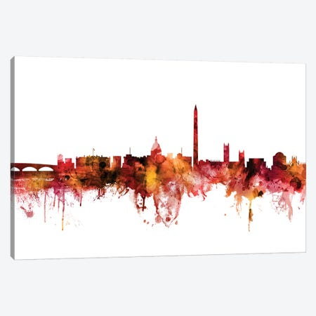 Washington, DC Skyline Canvas Print #MTO1647} by Michael Tompsett Canvas Print