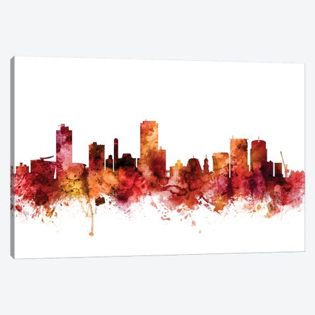 Wellington, New Zealand Skyline Canvas Print #MTO1648} by Michael Tompsett Canvas Artwork