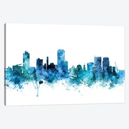Wellington, New Zealand Skyline Canvas Print #MTO1649} by Michael Tompsett Canvas Artwork