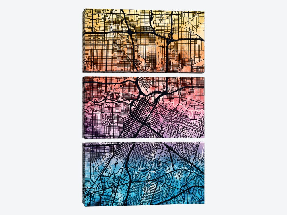 Houston, Texas, USA by Michael Tompsett 3-piece Canvas Artwork