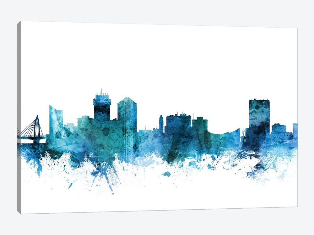 Wichita, Kansas Skyline by Michael Tompsett 1-piece Art Print