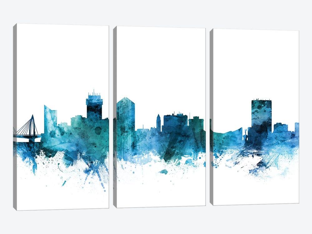 Wichita, Kansas Skyline by Michael Tompsett 3-piece Canvas Print