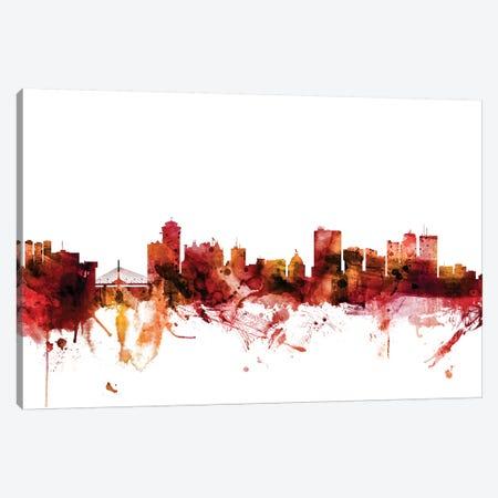 Winnipeg, Canada Skyline Canvas Print #MTO1656} by Michael Tompsett Canvas Wall Art