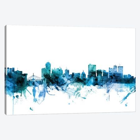 Winnipeg, Canada Skyline Canvas Print #MTO1657} by Michael Tompsett Canvas Wall Art