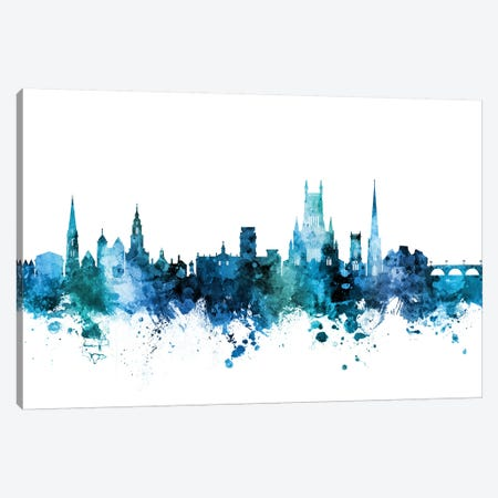 Worcester, England Skyline Canvas Print #MTO1660} by Michael Tompsett Canvas Art