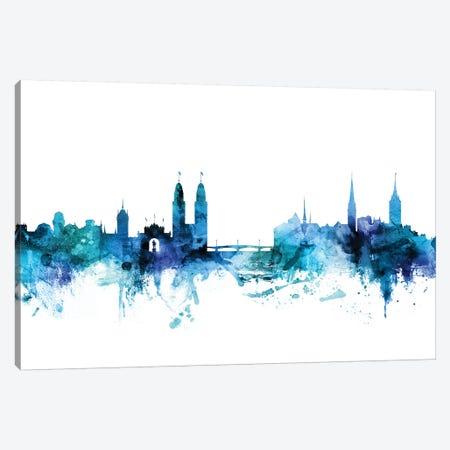 Zurich, Switzerland Skyline Canvas Print #MTO1664} by Michael Tompsett Art Print