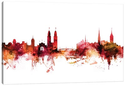 Zurich, Switzerland Skyline Canvas Art Print