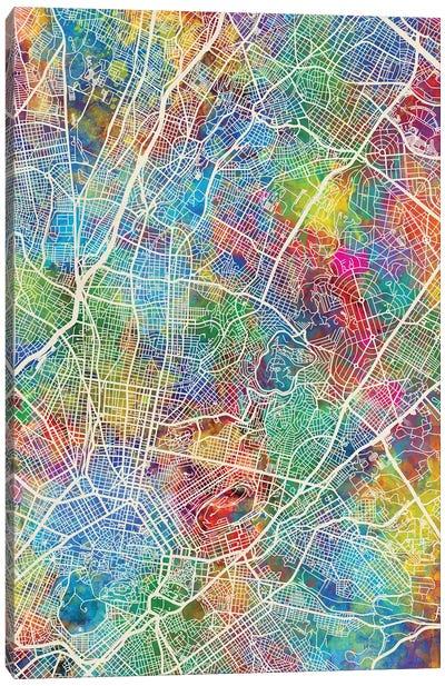 Athens Greece City Map I Canvas Art Print