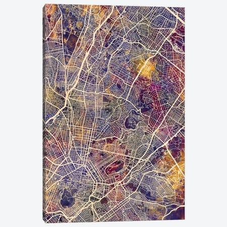 Athens Greece City Map II Canvas Print #MTO1669} by Michael Tompsett Canvas Art