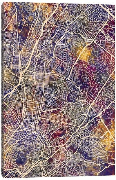 Athens Greece City Map II Canvas Art Print