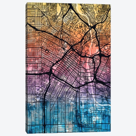 Los Angeles, California, USA Canvas Print #MTO166} by Michael Tompsett Canvas Print