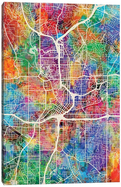 Atlanta Georgia City Map I Canvas Art Print
