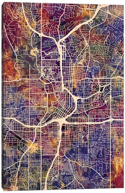Atlanta Georgia City Map II Canvas Art Print