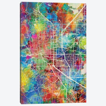 Boulder Colorado City Map I Canvas Print #MTO1683} by Michael Tompsett Canvas Artwork