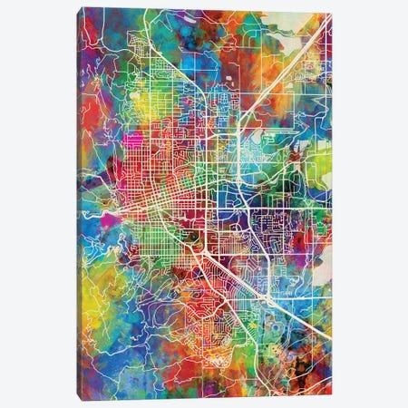 Boulder Colorado City Map I Canvas Print #MTO1683} by Michael Tompsett Canvas Artwork