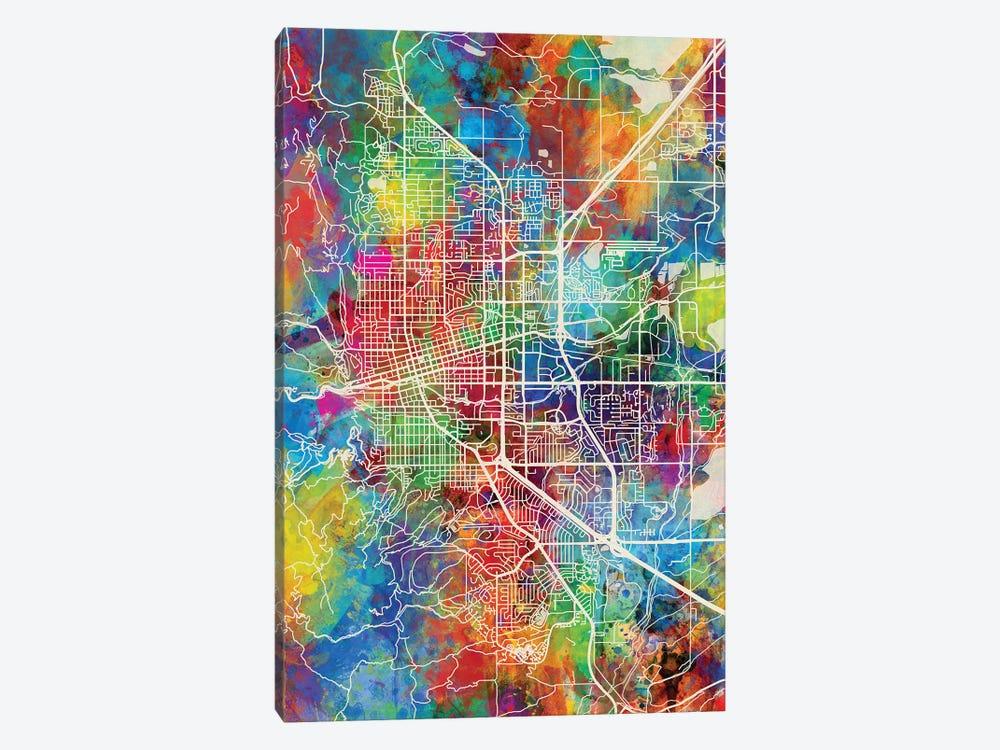 Boulder Colorado City Map I by Michael Tompsett 1-piece Canvas Artwork