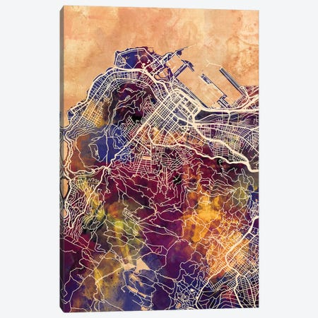 Cape Town South Africa City Street Map II Canvas Print #MTO1688} by Michael Tompsett Canvas Artwork