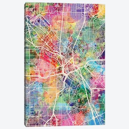Dallas Texas City Map I Canvas Print #MTO1696} by Michael Tompsett Canvas Art