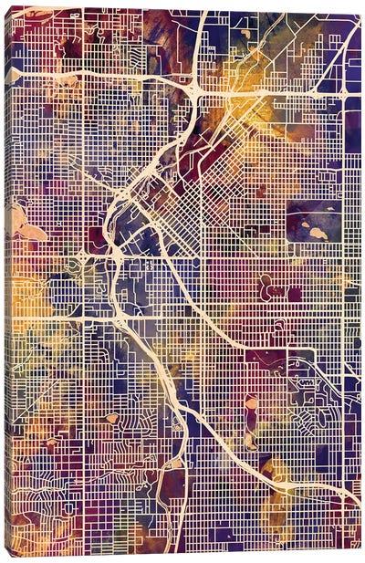 Denver Colorado Street Map II Canvas Art Print