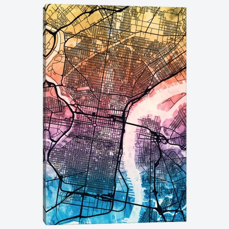 Philadelphia, Pennsylvania, USA Canvas Print #MTO169} by Michael Tompsett Canvas Art
