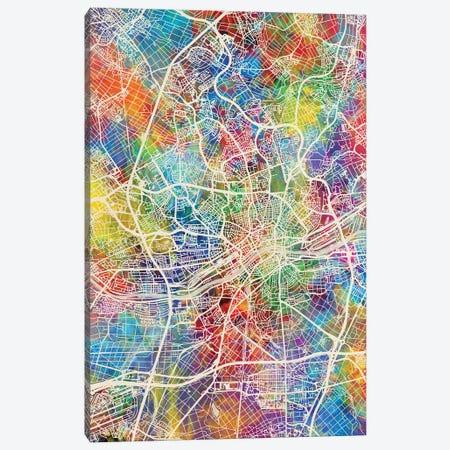 Frankfurt Germany City Map I Canvas Print #MTO1706} by Michael Tompsett Canvas Art